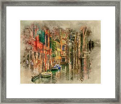Impressions Of Venice Framed Print by Brian Tarr