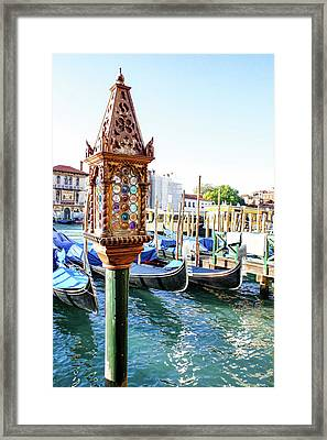 Impressions Of Venice - Jeweled Lamp On A Palace Palina Framed Print