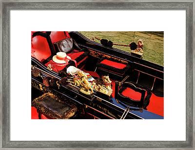 Impressions Of Venice - Reserve Your Gondola Framed Print by Georgia Mizuleva