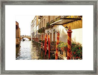 Impressions Of Venice - Signature Candy Stripped Palina Framed Print by Georgia Mizuleva