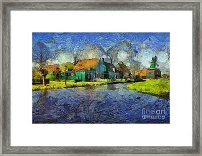 Impressions Of Zaanse Schans Framed Print