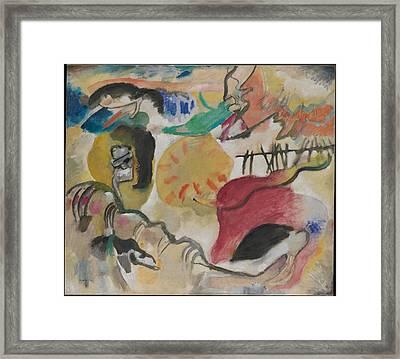 Improvisation 27 Garden Of Love II Framed Print by Vasily Kandinsky