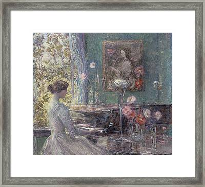 Improvisation Framed Print by Childe Hassam