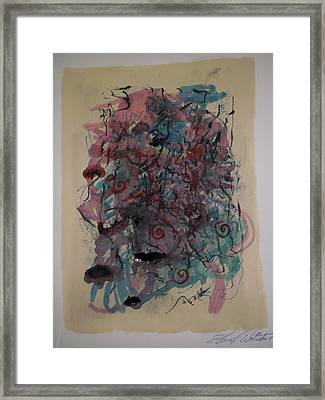Improvisation Two Framed Print by Edward Wolverton