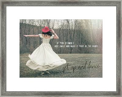 Improvise Quote Framed Print by JAMART Photography