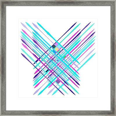 Framed Print featuring the digital art Improvised Geometry #2 by Bee-Bee Deigner