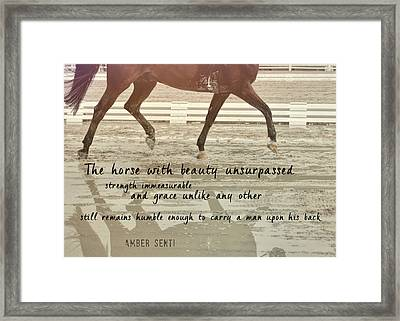 Impulsion Mirrored Quote Framed Print by JAMART Photography