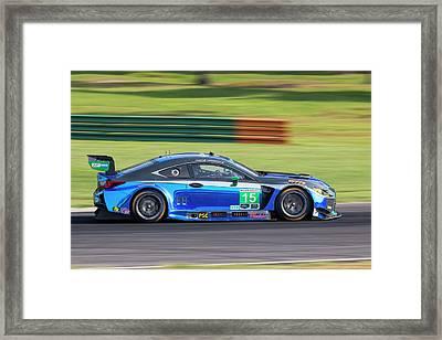 Imsa Lexus Pruett Hawksworth Framed Print