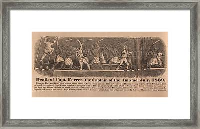 In 1839 Fifty-four African Captives Framed Print by Everett