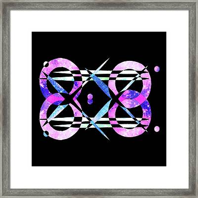 Framed Print featuring the digital art I Took A Retrofuturistic Journey In Space In 1920 by Bee-Bee Deigner