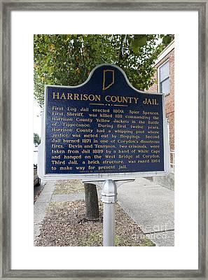 In-31.1965.2 Harrison County Jail Framed Print