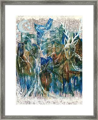 In A Blue Moon Framed Print by Julie Engelhardt