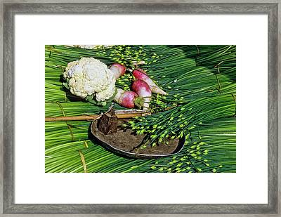In A Chinese Market Framed Print by Michele Burgess