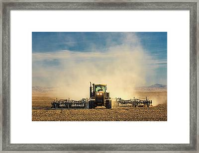 In A Cloud Of Dust Framed Print by Todd Klassy