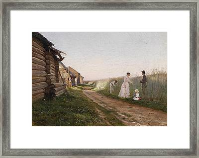 In A Cornfield Framed Print by Joseph Krachkovsky