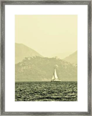In A Distance Framed Print by Svetlana Sewell