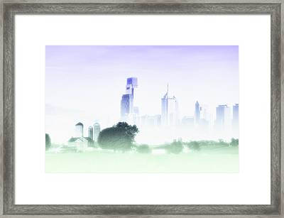 In A Fog Framed Print by Bill Cannon