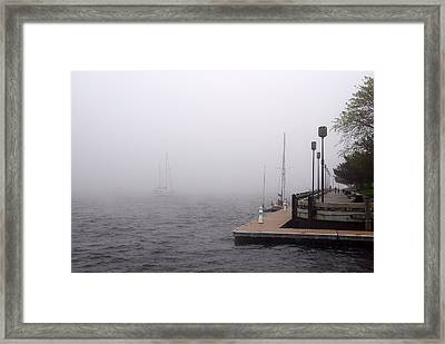 In A Fog In Newburyport Framed Print