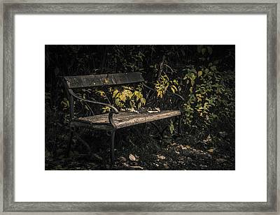 Framed Print featuring the photograph In A Forgotten Corner by Odd Jeppesen