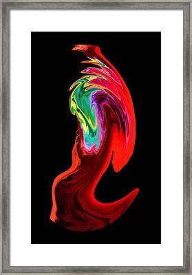 In A Frenzy Framed Print by Karen Scovill