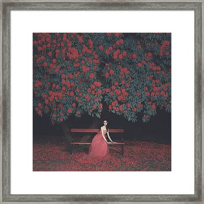 In A Garden Framed Print