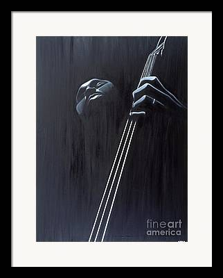 Stand Up Bass Framed Prints