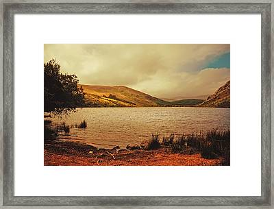 In A Magic Place In A Mystic Mood. Lough Dan. Wicklow. Ireland Framed Print by Jenny Rainbow