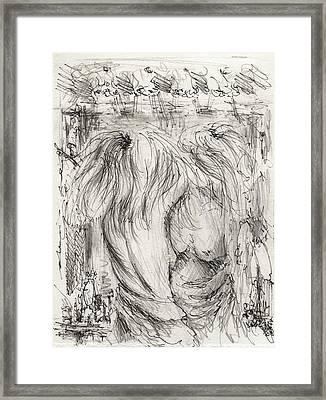 In A Mirror Framed Print by Rachel Christine Nowicki