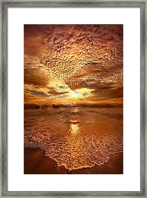 In A Moment Or Two Framed Print