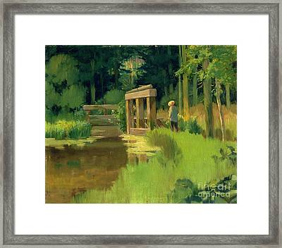 In A Park Framed Print by Edouard Manet