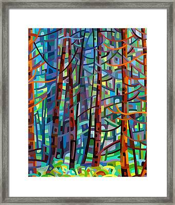 In A Pine Forest Framed Print