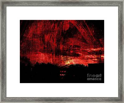 In A Red World Framed Print