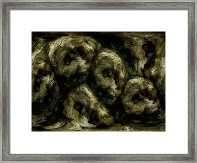 Framed Print featuring the digital art In A Swedish Troll Forest by Gun Legler