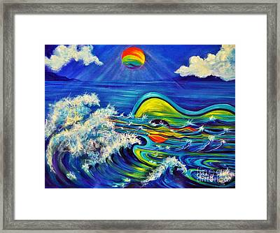 In All Things Love Framed Print by Vicki Caucutt