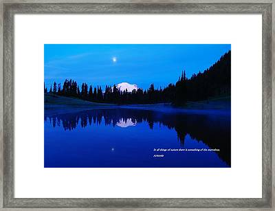 In All Things Of Nature Framed Print by Jeff Swan