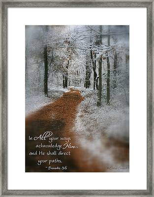 In All Your Ways Framed Print by Debra Straub