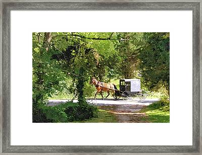 In Amish Country Framed Print