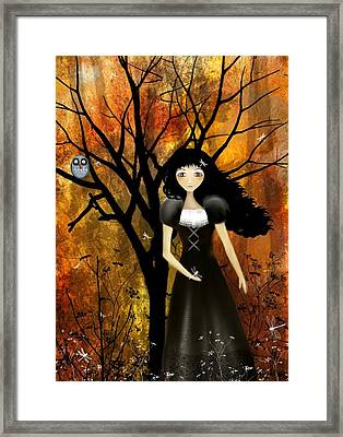 In An Autumn Forest Framed Print by Charlene Zatloukal
