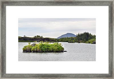 Framed Print featuring the photograph In An Iceland Lake by Joe Bonita