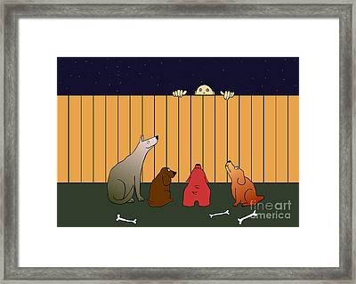 In Bad Time On The Bad Place Framed Print