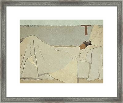 In Bed Framed Print by Edouard Vuillard
