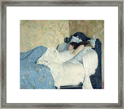 In Bed Framed Print by Federigo Zandomeneghi