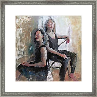 Daughters Of The Artist Framed Print