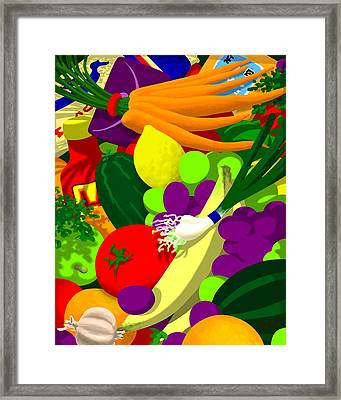 in Bobbie's bag Framed Print by Tom Dickson