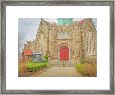 In Brockton For Good Framed Print by Bill McEntee