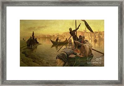 In Cairo Framed Print by Joseph Farquharson