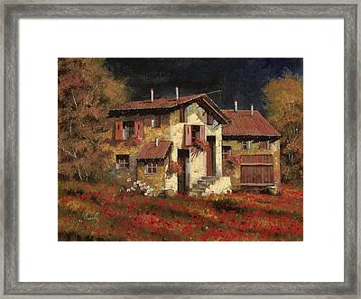 In Campagna La Sera Framed Print by Guido Borelli