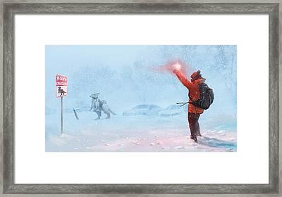In Case Of Emergency Framed Print by Steve Goad