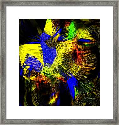 In Chaos - Yet Here Is My Praise Framed Print by Fania Simon