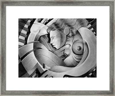 In Circle Framed Print